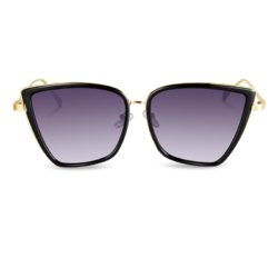 EIRENE LUXURY RETRO CAT EYE METAL SUNGLASSES