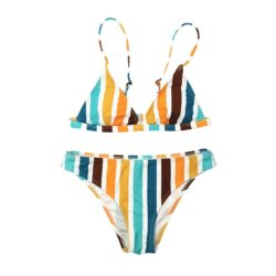 RAINBOW STRIPED BIKINI SET