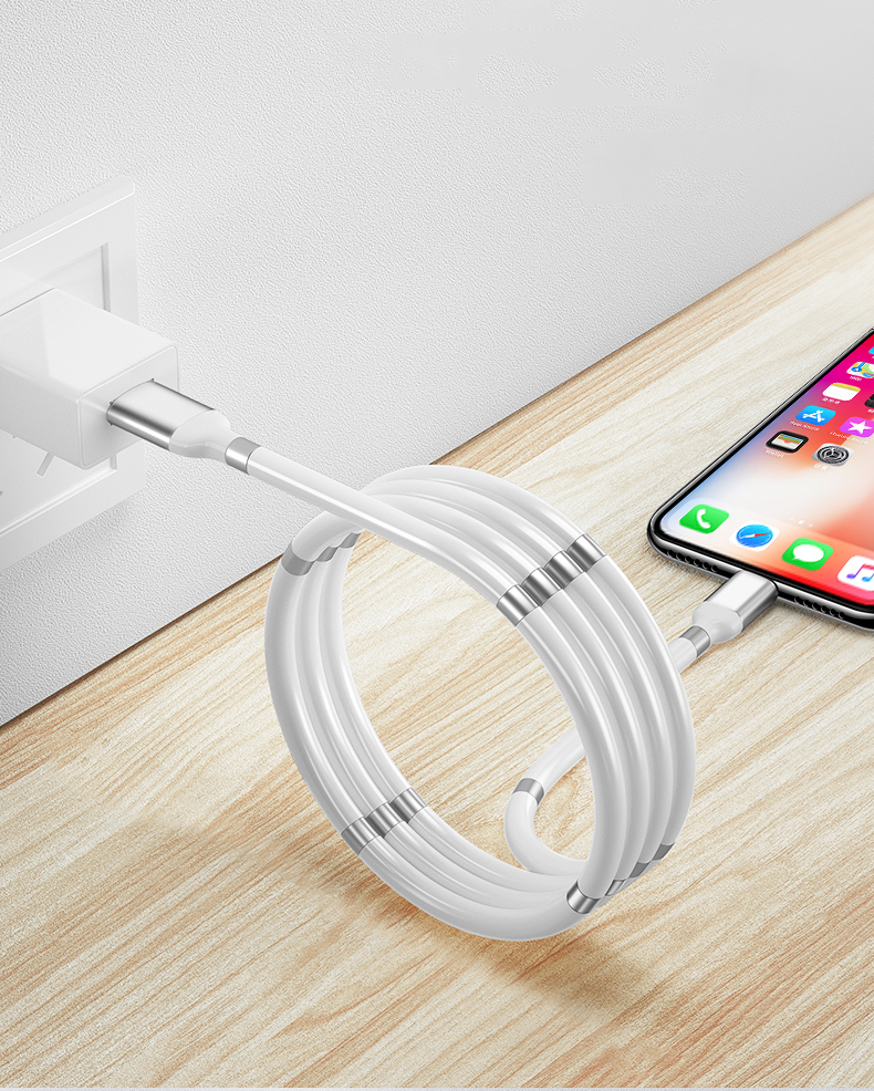 MAGNETIC SELF-WINDING USB CHARGING CABLE